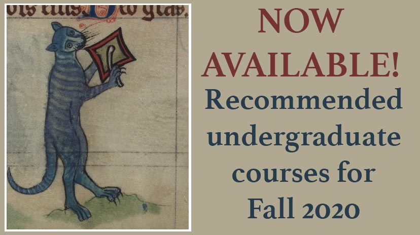 List of recommended courses for Fall 2020