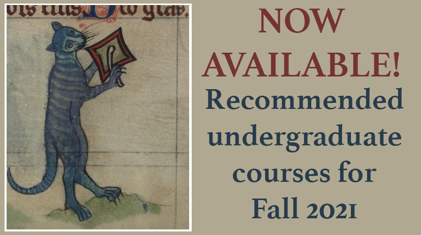 List of recommended courses for Fall 2021