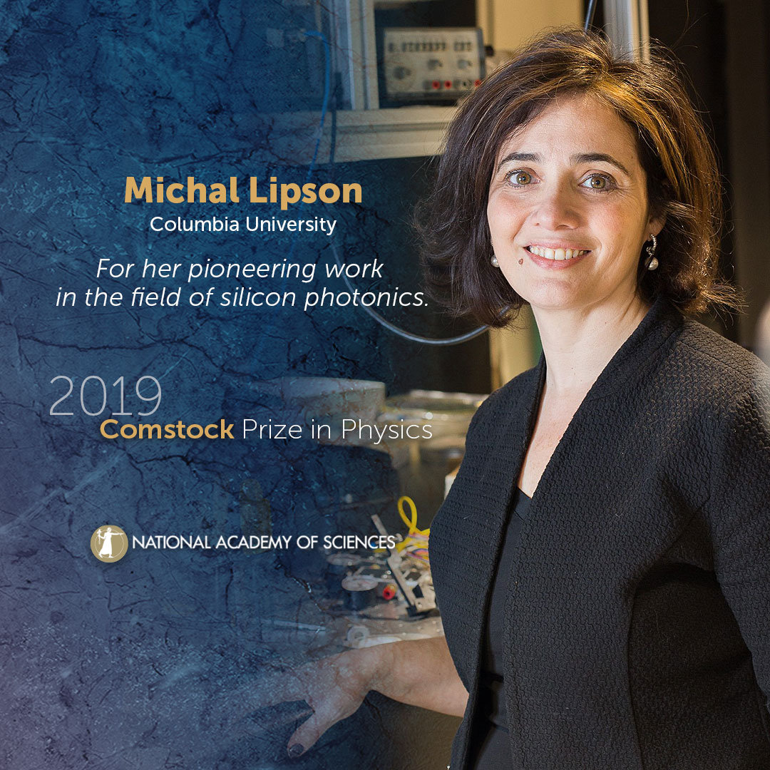 Michal Lipson awarded the Comstock Prize