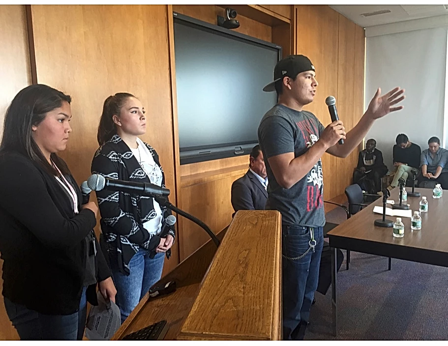 Standing Rock Sioux youth describe their experience at home