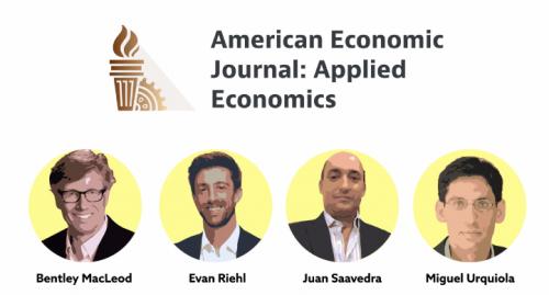 American Economic Journal: Applied Economics featuring Bentley MacLeod, Evan Riehl, Juan Saavedra and Miguel Urquiola