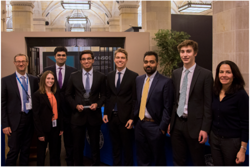 COLUMBIA'S FED CHALLENGE TEAM EARNS 2ND PLACE