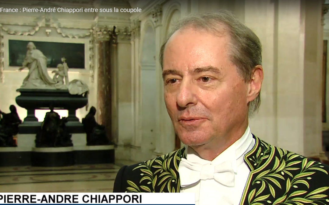 Click to Watch: Pierre-André Chiappori Inducted to L'institut de France