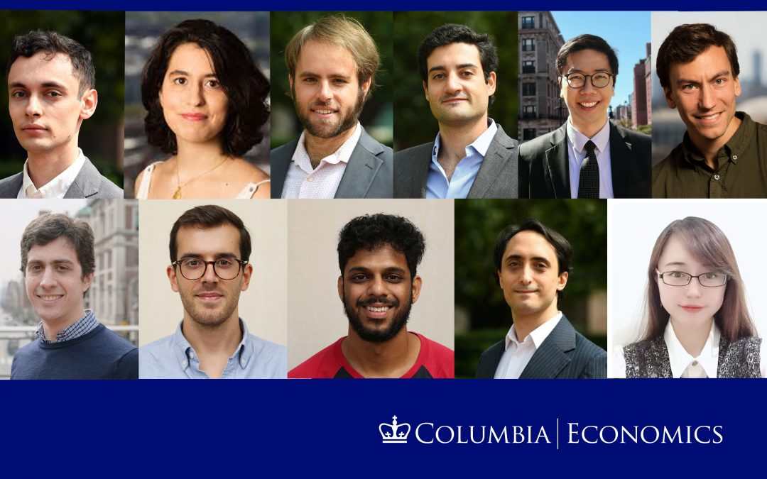 Columbia Economics 2020 Job Market Candidates